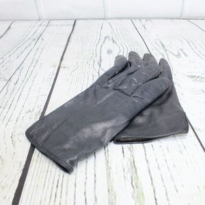 Accessories - Black Leather Cashmere Wool Lined Gloves Size 7.5